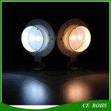 Lampe solaire ronde de jardin de frontière de sécurité d'éclairage de DEL avec 3PCS DEL lumineuse élevée