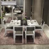 食事するための緩和されたガラスが付いている現代ダイニングテーブルRommの家具(CZ020B#)を