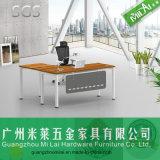 Mesa nova do computador de escritório do projeto com pé do aço inoxidável