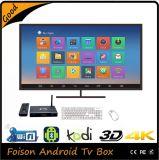 F8 caixa superior ajustada WiFi HD do Android 4.4 da televisão por cabo esperta de Google, IPTV Apk