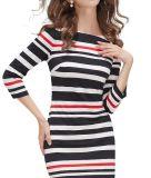 Robe formelle de fille de Madame Fashion Stripe Summer Wholesale