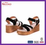 Kuh-lederne Form-Frauen-Schuhe