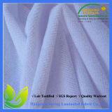 Tissu de coton imperméable à l'eau de literie bleu-clair d'hôtel