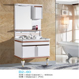 Nouveau PVC de Highquality Floor Standing Bathroom Vanity avec Side Cabinet
