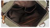 Sacchetto di spalla di cuoio dell'imbracatura di svago della tela di canapa di disegno dell'annata (RS-862)