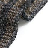 Tissu visqueux de denim de Spandex de polyester de coton de bande d'or