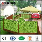 Декоративная Eco-Friendly искусственная пластичная изгородь выходит панель с Ce SGS