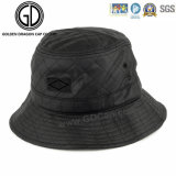 2016 New Style PU Leather Diamond Quilted Black Bucket Hat