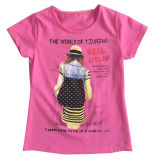 Print Sgt-072のChildren Clothes Apparelの方法イギリスのFlag Letter Girl T-Shirt