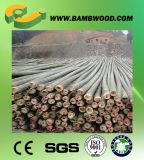 Barato y postes de bambú de caoba teñidos alta calidad