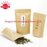 Poche comique avec la ligne de déchirure de rayure de laser/sac d'emballage avec le zip-lock pour le té vert