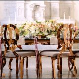 Горячий продавая PU нержавеющей стали золота обедая стул