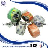 Cinta cristalina famosa del embalaje de la marca de fábrica 48m m X 90yard BOPP del rodillo superior