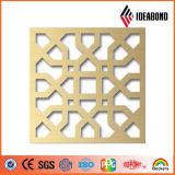 Modèles de spéléologie de commande numérique par ordinateur d'Ideabond en vente chaude de panneau composé en aluminium aux entreprises de construction du fournisseur de la Chine