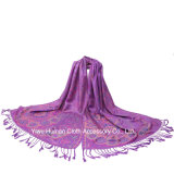 Tasselsの女性Fashion Jacquard Shawl Scarfの