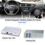 Voiture Android Navigation Interface Box pour Citroen C4, C5, Upgrade HD Video, Googl Map
