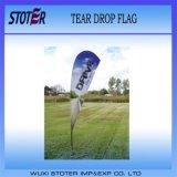 Bandeira do Teardrop do anúncio 2014 ao ar livre