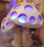 الحجر الرملي النحت شكل الفطر فانوس الإضاءة مع مكبر الصوت