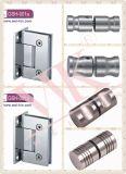 高品質の真鍮のサテンのニッケル90度の円形のシャワーのヒンジ(GSH-004R)
