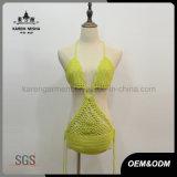 女性Boho祝祭のハンドメイドのかぎ針編みの水着の習慣Monokini