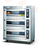 Heet! ! ! Norm 3 Laag 9 de Apparatuur van het Voedsel van de Oven van het Dek van het Gas van Dienbladen