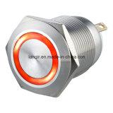Metal interruptor de botón, Anillo Momentay interruptor de botón iluminado (L16, L19, L22, L25, L30)