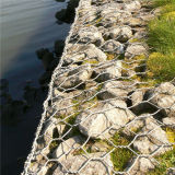 Fio Mesh Hot Dipped Galvanized Gabion para Flood Control