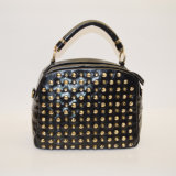 Retro signora occidentale Rivet Handbag di stile