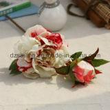 Цветок Peony покрытия ощупывания руки искусственний для украшения дома/венчания (SF16043)