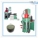 Prensa de enladrillar de aluminio de Turings del desecho de cobre
