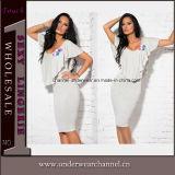 Form-Häkelarbeit-zurück Chiffon- Maxi Sommer-Kleid (TKYA737)