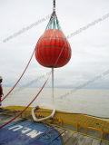 Saco enchido água do peso para o teste da carga do guindaste da plataforma