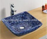 Форма квадрата тазика ванной комнаты тазика цвета керамическая (MG-0043)