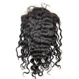 Perucas malaias do laço da parte dianteira do cabelo do Virgin (onda 10Inch-Deep)