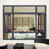 Aluminiumblendenverschluss-Fenster mit 5mm Doppelverglasung-Glas (FT-W135)