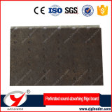 Tablero acústico perforado de la fibra del material de construcción