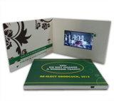 Venta caliente tarjeta de visita video de 5.0 pulgadas con la pantalla del LCD