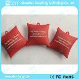 로고 (ZYF5040)를 가진 주문 빨간 소파 베개 모양 USB 섬광 드라이브