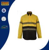 Chemise r3fléchissante de sûreté de la chemise 3m de force de coton salut