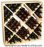 De kubus kijkt de Praktische Vertoning van de Wijn van het Rek van de Fles van de Wijn Houten