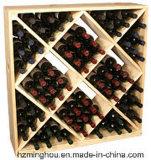 Estante de visualización de madera práctico del vino de la mirada del cubo
