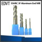 Edvt 55HRC 3fluteのCNC機械のためのアルミニウム端製造所