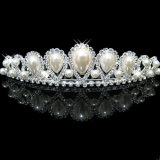 Перла цвета слоновой кости облицовывает крону тиары венчания гребня Bridal