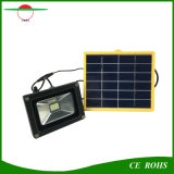 12 projecteur solaire fixé au mur du panneau solaire DEL de la lumière d'inondation de jardin de lampe de pelouse de DEL SMD3528 IP65 6V 3W avec la batterie 2200mAh