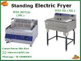 Populäres Zubehör-kommerzieller rostfreier Küche-Geräten-Stahl, der elektrische Bratpfanne steht