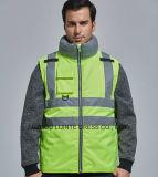 Alta visibilità verde riflettente per la maglia di sicurezza dell'operaio