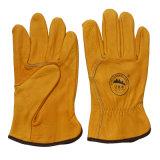 Перчатка перчатки управляя работы кожи с сохранённым природным лицом коровы ранга Ab промышленная защитная работая
