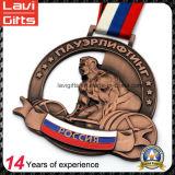 Suministro de China metal promocional Medalla Deporte para el levantamiento de pesas