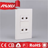 2 Way Plastic High Quality Double Kitchen Wall Socket