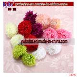 Flores artificiales de seda cabezas esféricas a granel casa decoración de la boda del partido (g8096)